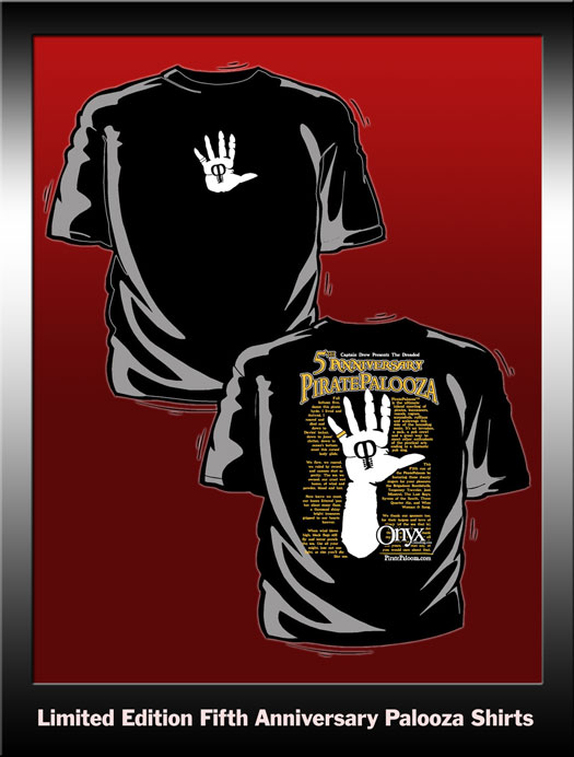 The 2009 PiratePalooza Cursed Hand Shirt