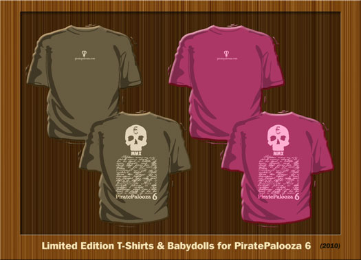 2010 PiratePalooza 6 T-shirts