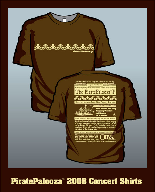 2008 Palooza Shirt Front/Back