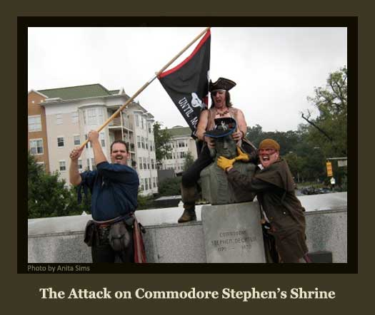 The Pirates Attack Commodore Stephen's Shrine
