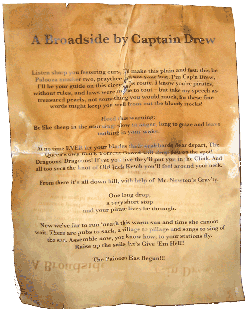 Captain Drew's Broadside