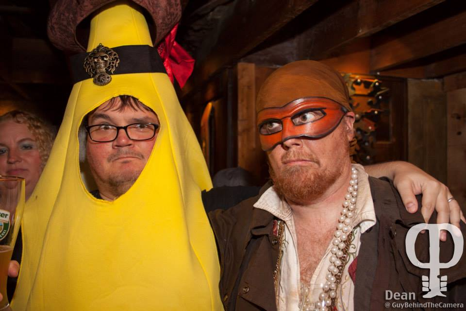 Mister Banana swears allegiance to Captain Drew, 2013 - image by Dean Ansley, Guy Behind the Camera