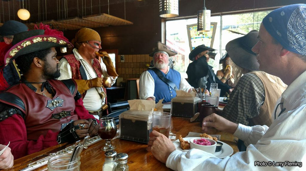 Pirates arriving at Twain's