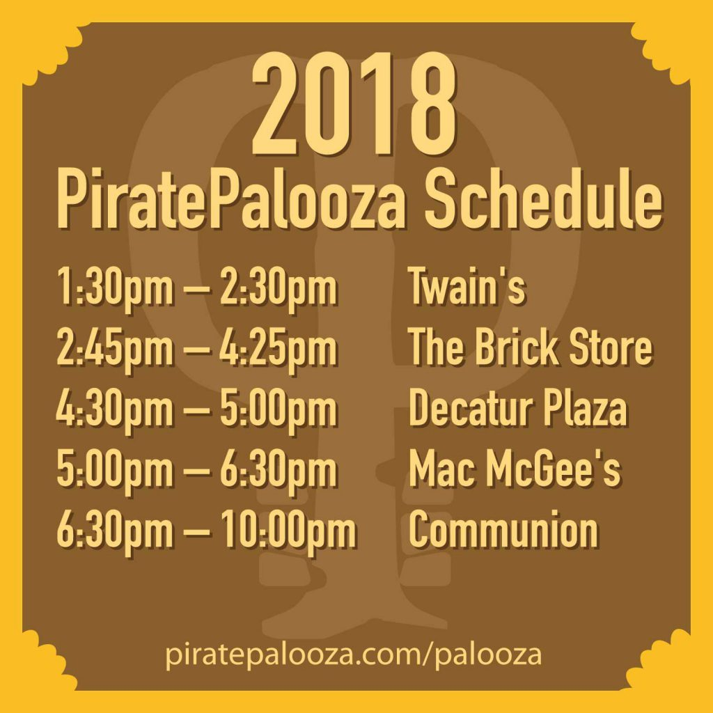 2018 PiratePalooza Schedule