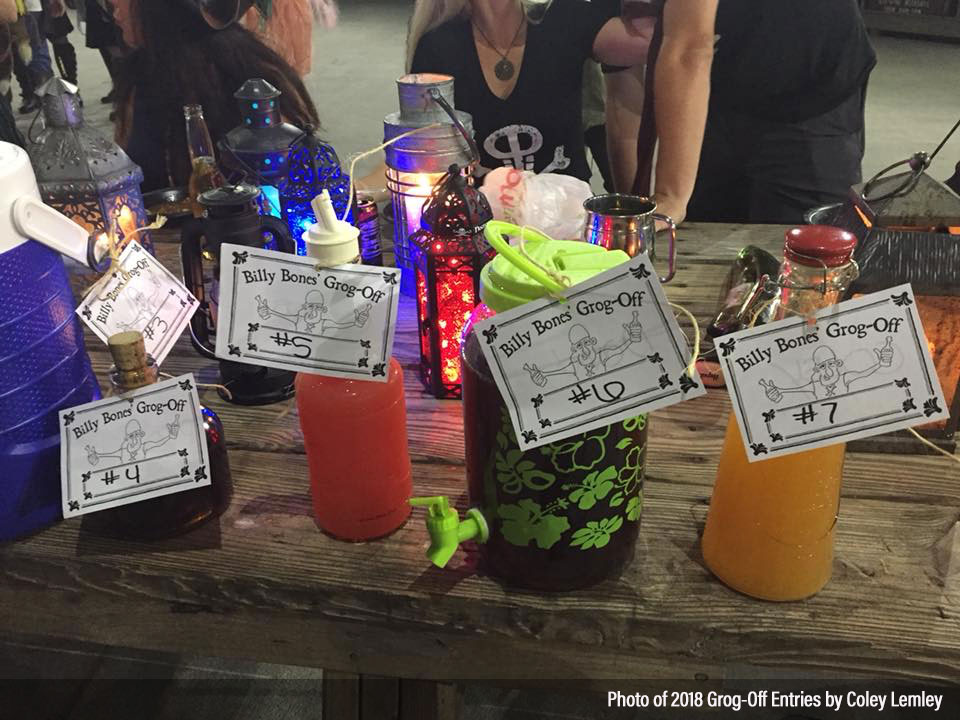 Some of the grog entries for the 2018 Billy Bones Grog-Off