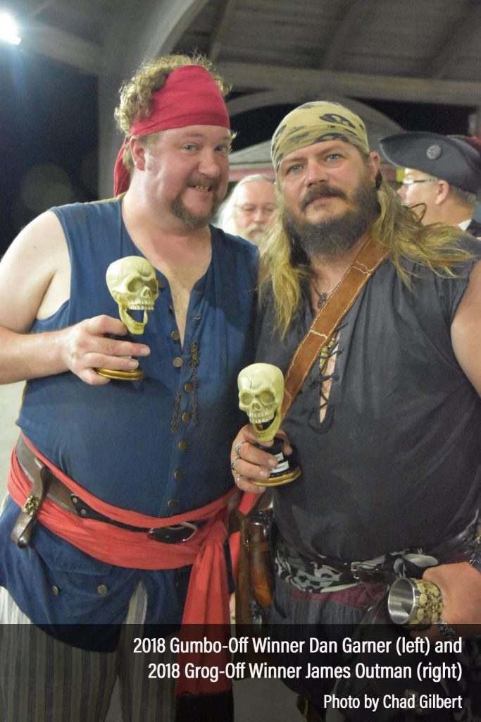 Winners of the 2018 Billy Bones Gumbo-Off and Grog-Off