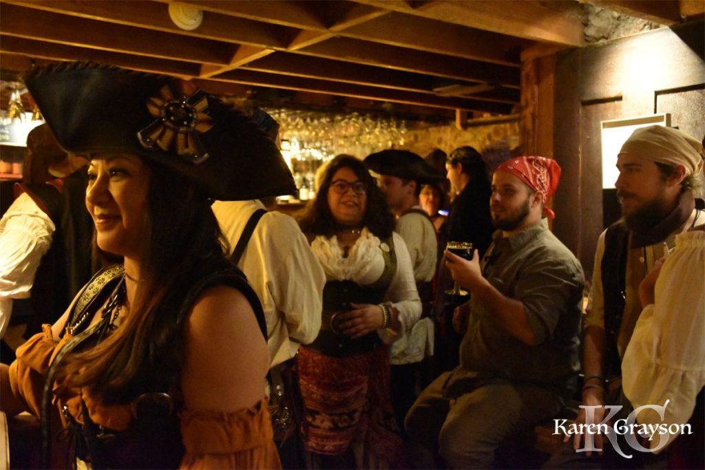 The Belgian Bar filled with pirates