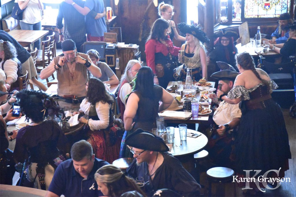 The Brick Store Pub filled with pirates!