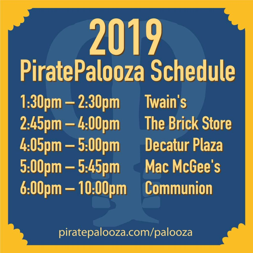 2019 PiratePalooza Schedule graphic
