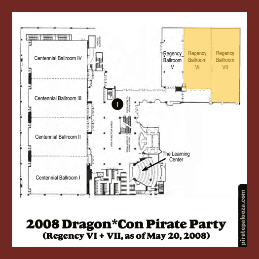 Tentative Location of 2008 Pirate Party