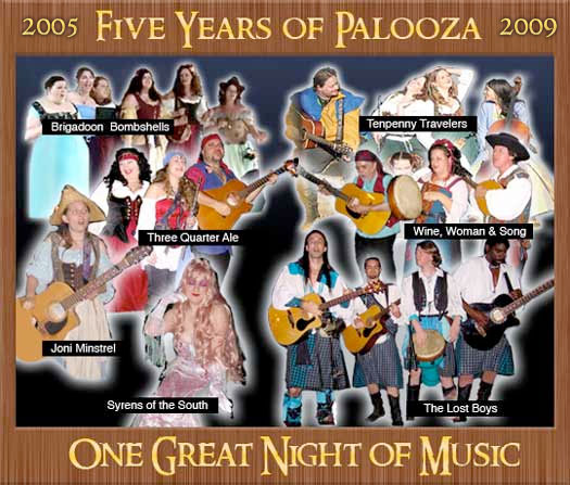 The Perfomer Line-up for PiratePalooza 2009