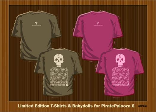 2010 PiratePalooza 6 T-shirts