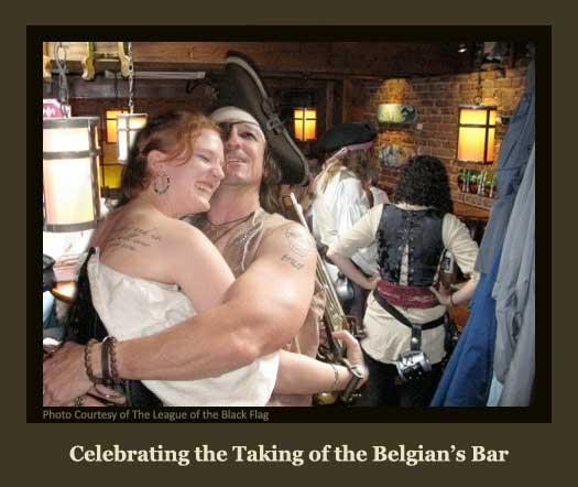 Celebrating the Taking of the Belgian's Bar
