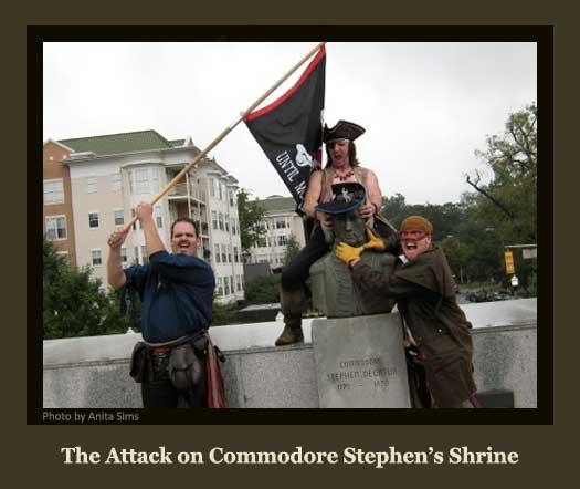 The Pirates Attack Commodore Stephen's Shrine