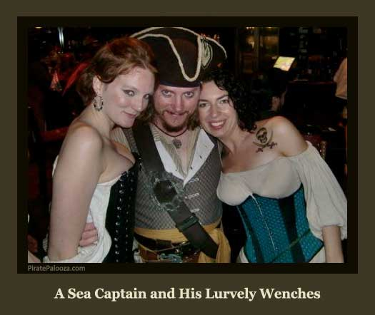 A Sea Captain and His Lurvely Wenches