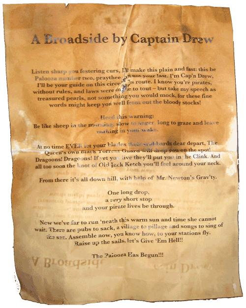 Captain Drew's Broadside