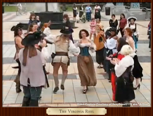 Pirates and Wenches Dancing The Virginia Reel in the Decatur Square