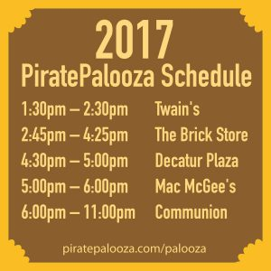 2017 PiratePalooza Pubcrawl Schedule