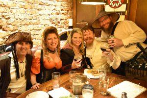 Pirates enjoying the fine ales of the Brick Store Pub