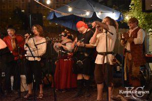 The Barehead Bards singing the longest song of PiratePalooza 2018
