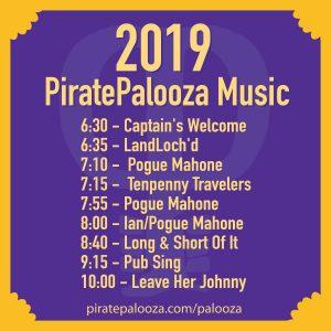The 2019 PiratePalooza Music LIneup