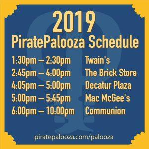 2019 PiratePalooza Schedule graphic
